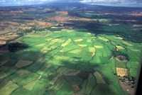 Aerial View of Fields in Northern Madagascar Fine-Art Print