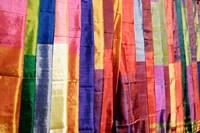 Colorful Silk Scarves at Edfu Market, Egypt Fine-Art Print