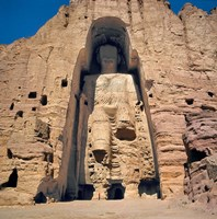 Afghanistan, Bamian Valley, Great Buddha base Fine-Art Print