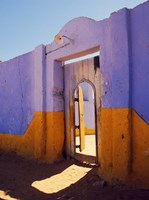 Courtyard Entrance in Nubian Village Across the Nile from Luxor, Egypt Fine-Art Print