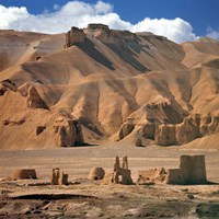 Afghanistan, Bamian Valley, Ancient Architecture Fine-Art Print