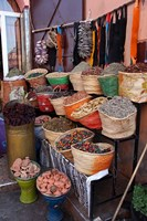 Africa, Morocco, Marrakech. Spices of the mellah of Marrakech. Fine-Art Print