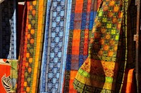 Cloth stall, African curio market, Cape Town, South Africa. Fine-Art Print