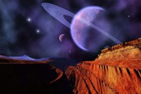 Cosmic Landscape of Another Planet Fine-Art Print