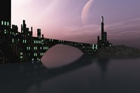 City Relection in Calm Waters of Another Galaxy Fine-Art Print