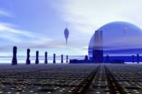Futuristic City in the Milky Way Fine-Art Print