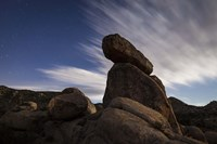 Large boulders backdropped by stars and clouds, California Fine-Art Print