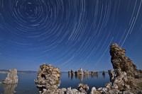 Moonlight illuminates the tufa formations at Mono Lake, California Fine-Art Print