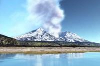 Mount Saint Helens simmers after the volcanic eruption Fine-Art Print