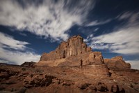 Red rock formation illuminatd by moonlight in Arches National Park, Utah Fine-Art Print