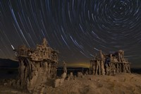 Star trails and intricate sand tufa formations at Mono Lake, California Fine-Art Print