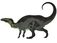 Camptosaurus, a herbivorous dinosaur from the Late Jurassic Period Fine-Art Print