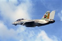 An F-14A Tomcat with special tail art applied for the Christmas holiday Fine-Art Print
