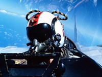 A pilot sitting in the back of a two-seater F-14 Tomcat Fine-Art Print
