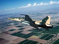 An F-5E Tiger II in flight over El Centro, California Fine-Art Print