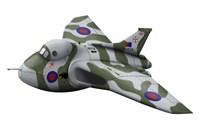 Cartoon illustration of a Royal Air Force Vulcan bomber Fine-Art Print