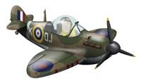 Cartoon illustration of a Royal Air Force Supermarine Spitfire Fine-Art Print