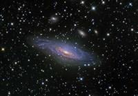 NGC7331 Galaxy and its companion galaxies Fine-Art Print