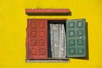 Madagascar, Colorful window, near Antananarivo Fine-Art Print
