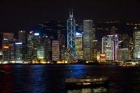 Hong Kong, Victoria Harbor, city skyline Fine-Art Print