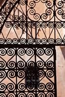 Iron gate, Moorish architecture, Rabat, Morocco Fine-Art Print