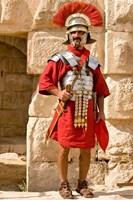 Jordan, Jerash, Reenactor, Roman soldier portrait Fine-Art Print