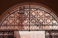 Moorish architecture, iron gate Rabat medina, Morocco Fine-Art Print