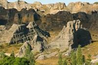 Madagascar, Isalo National Park, Eroded sandstone Fine-Art Print