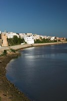 MOROCCO, AZEMMOUR: View from Um, er, Rbia River Fine-Art Print