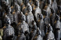 Imperial terra cotta warriors in battle formation Fine-Art Print