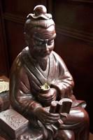 Lu Yu statue, Shanghai's Lu Gardens Bazaar teahouse Fine-Art Print