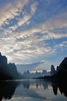 Li River and Karst Peaks at sunrise, China Fine-Art Print
