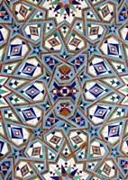 Morocco, Hassan II Mosque mosaic, Islamic tile detail Fine-Art Print