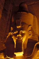 Lighted Face at the Great Temple of Ramesses II, Egypt Fine-Art Print