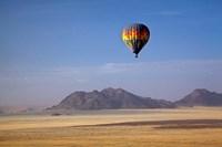 Hot air balloon over Namib Desert, Africa Fine-Art Print