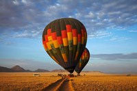 Launching hot air balloons, Namib Desert, near Sesriem, Namibia Fine-Art Print