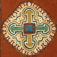 Mauritania, Cross depicted on a wall in Oualata Fine-Art Print
