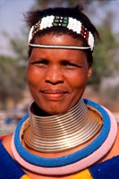 Portrait of Ndembelle Woman, South Africa Fine-Art Print