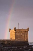 Rainbow over fortress, Essaouira, Morocco Fine-Art Print
