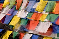 Prayer Flags at Dochu La, Bhutan Fine-Art Print