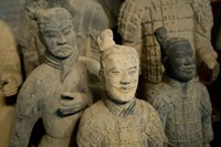 Ranks and uniroms of terra cotta warrior figures Fine-Art Print