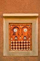 Ornate Detail of a Wooden Window, Djenne, Mali Fine-Art Print