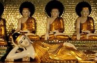 Reclining Buddha, Shwedagon Pagoda, Yangon, Myanmar Fine-Art Print