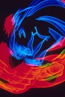 Red and Blue Neon Lighting with Nightzoom Fine-Art Print