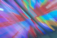 Multi Colored Neon Lighting with Nightzoom Fine-Art Print