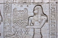 Queen Cleopatra and Stone Carved Hieroglyphics, Egypt Fine-Art Print