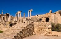 Roman Theater, Ancient Architecture, Dougga, Tunisia Fine-Art Print