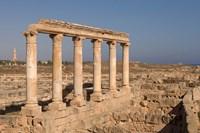 Columns, Sabratha Roman Site, Tripolitania, Libya Fine-Art Print