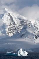 Rugged Mountains Bordering Gerlache Strait, Antarctica Fine-Art Print