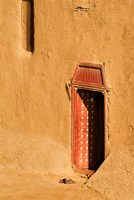 Shoes outside side door into the Mosque at Djenne, Mali, West Africa Fine-Art Print